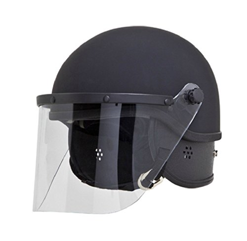 PROTECH TR-1 RIOT HELMET WITH 3MM FACE SHIELD & PADS (Small/Medium)