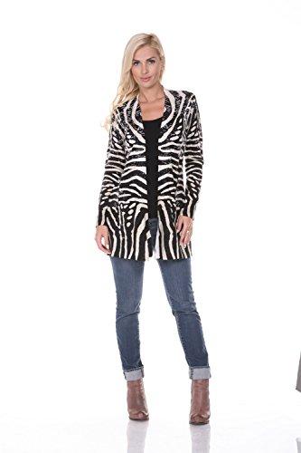 Zebra Print Sweatshirt - 7