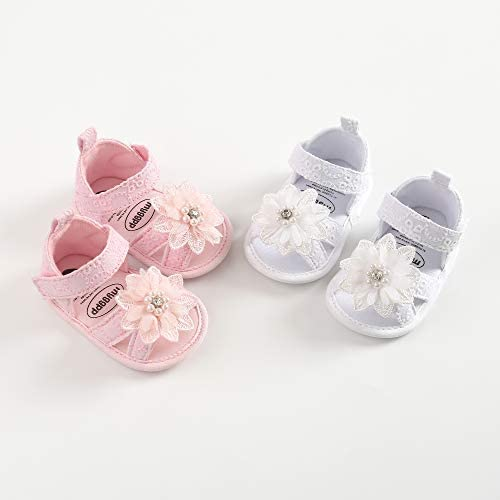 Baby Girls Summer Sandals Non-Slip Soft Sole Infant Slippers Bowknot Princess Dress Toddler First Walkers Shoes