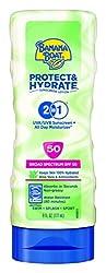 Banana Boat Sunscreen Protect & Hydrate Moisturizing Broad Spectrum Sun Care Sunscreen Lotion - Spf 50, 6 Ounce