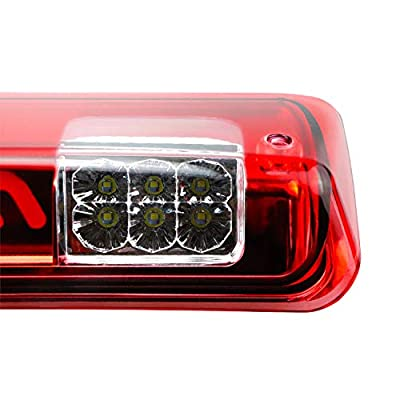 for 04-08 Ford F150 07-10 Ford Explorer 06-08 Lincoln Mark LT LED Third 3rd Brake light Rear Cargo Lamp High Mount Stop light (Red): Automotive