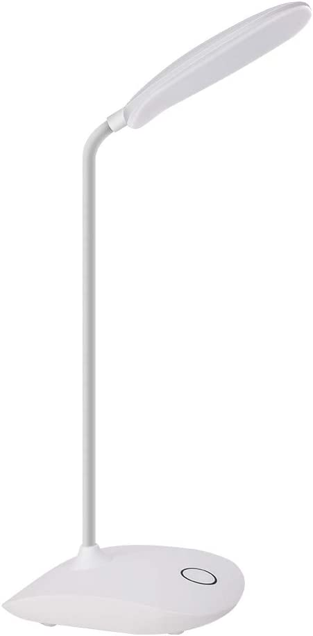 PORTABLE ADJUSTABLE FLEXI-HEAD SILVER DESK TABLE LAMP LIGHT HOME OFFICE MAINS