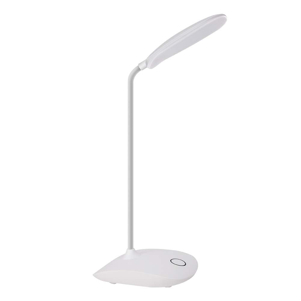 DEEPLITE LED Desk Lamp with Flexible Gooseneck 3 Level Brightness, Battery Operated Table Lamp 5W Touch Control, Compact Portable lamp for Dorm Study Office Bedroom, Eye-Caring and Energy Saving