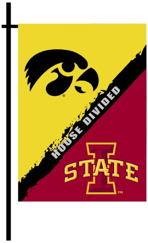 House Rivalry Ncaa (NCAA Iowa-Iowa State 2-Sided Garden Flag-Rivalry House Divided)