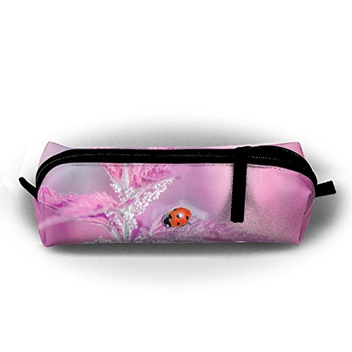Ppppllll Chafer On Pink Leaf Zipper Travel Cases Makeup Handbag Resistance Carrying Handle Cosmetic Hanging Bag Accessories Toiletries Pouch Power Lines Documents Bag