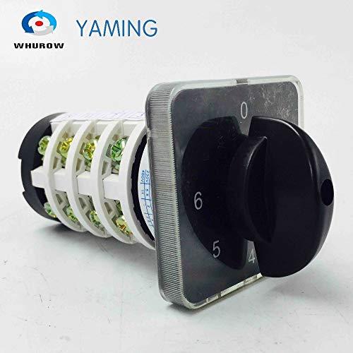 Quaros - perilla de interruptor giratorio de 6 posiciones 0-6 YMZ12-20/4 universal manual interruptor de cambio eléctrico 20...