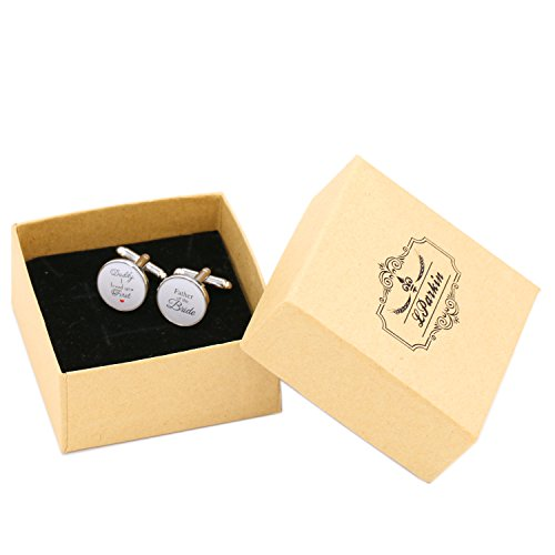 LParkin Wedding Gift Cuff Links -Father of the Bride ; Daddy I love you first (White) by LParkin (Image #3)