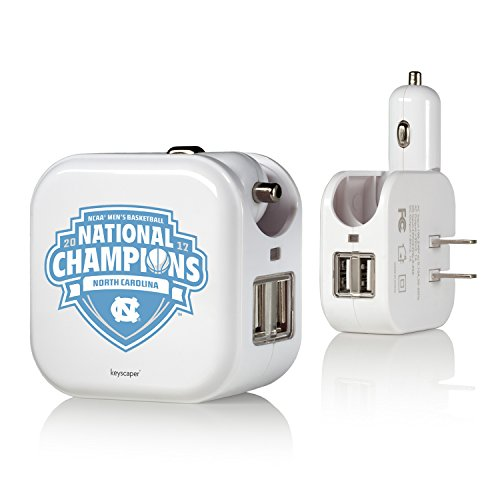 North Carolina Tar Heels 2017 NCAA Men's Basketball National Champions 2 in 1 USB Charger NCAA