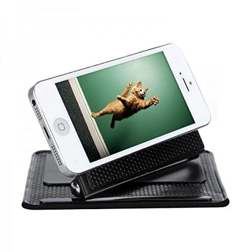 Alfombrilla de apoyo coche no deslizante antideslizante de inclinación ajustable de 360 grados para el salpicadero gps pda smartphones movil accesorios ...