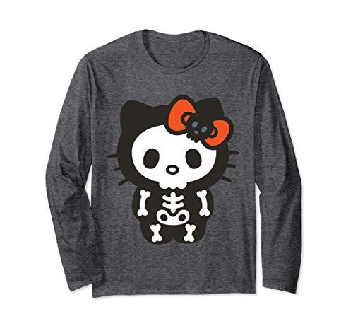 Hello Kitty Halloween T Shirt (Hello Kitty Skeleton Halloween Long Sleeve)