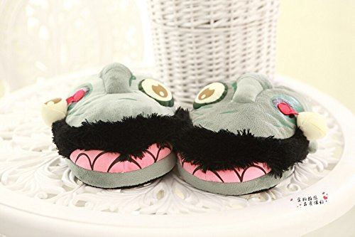 Zombie Slippers Halloween Plush Cotton House Slippers Shoes by Veribuy (Image #2)