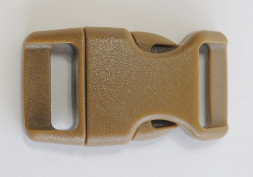 5/8'' Contoured Side Release Buckles for Paracord Bracelets Multiple Size and Quantity (coyote, 10 pack)
