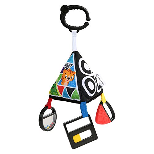 41PKxS5yfqL - Baby Einstein Playful Pyramid High Contrast Take-Along Toy, Newborns and Up