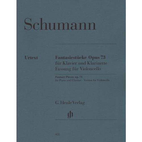 Robert Schumann Fantasy Pieces - Schumann, Robert Fantasy Pieces, Op. 73. For Cello and Piano. URTEXT. Published by G. Henle Verlag