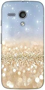 Snoogg Sands Or Crystals Designer Protective Back Case Cover For Moto-G