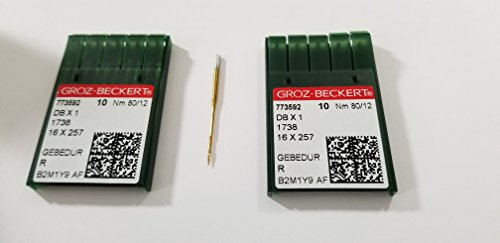 Groz-beckert Db1 Dbx1 1738 Titanium Plated 80/12 Industrial Sewing Needle 20pcs …