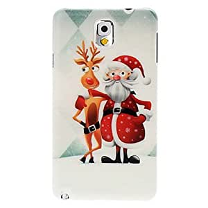Merry Christmas Pattern Plastic Hard Case for Samsung Galaxy Note 3(Pattern E)