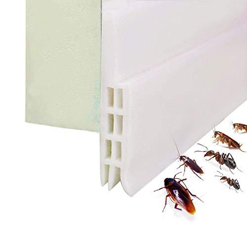 Door Draft Stopper, Under Door Sweep Weather Stripping Noise Stopper & Soundproofing Door Bottom Seal Strip Prevent Bugs, 2