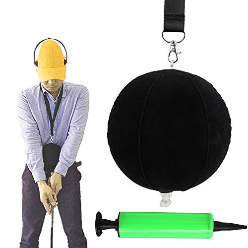 OUTFANDIA Golf Intelligent Impact Ball, Golf Swing Trainer Aid Assist Posture Correction Training Supplies ()