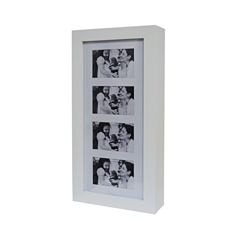GLS White Photo Frames Wall Mount Jewelry Armoire Cosmetic Organizer Picture Display Box by GLS