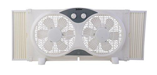 """TruePower Portable Twin 9"""" Reversible Window Fan"""