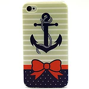 YULIN Bow Rivet Pattern TPU Soft Case for iPhone 4/4S