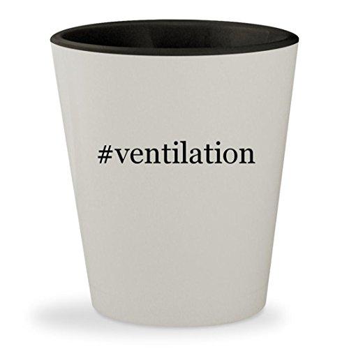 Price comparison product image #ventilation - Hashtag White Outer & Black Inner Ceramic 1.5oz Shot Glass