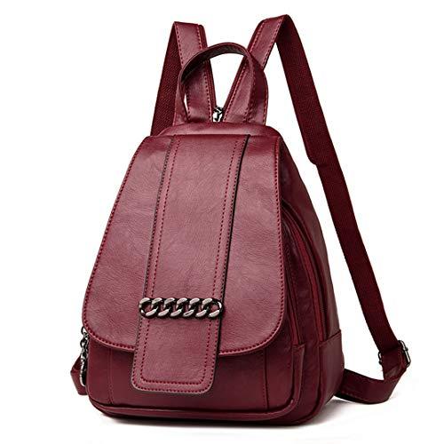cuir Véritables Gensotrn dos sacs Red bandoulière bandoulière sac en sac filles adolescent Wine femmes ddqgIArw