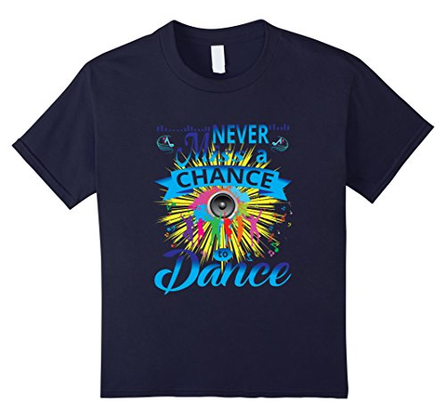 Kids Never Miss A Chance To Dance Disco Hipster Retro Vintage Tee 12 Navy