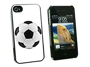 Soccer Ball - Snap On Hard Protective Case for Apple iPhone 4 4S - Black