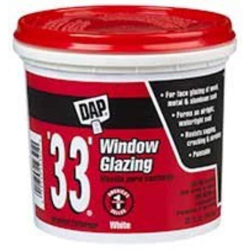 Dap 33 Glazing Compound - Dap 12121 1 Pint 33 Glazing Compound White Pint