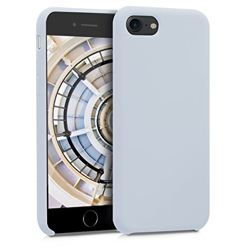kwmobile TPU Silicone Case for Apple iPhone 7/8 - Soft Flexible Rubber Protective Cover - Light Grey Matte