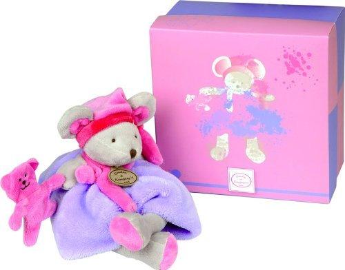 Doudou et Compagnie Les Animaux Graffitis DC2554 Mouse Soft Toy Violet by Doudou et Compagnie (Soft Doudou Toy)