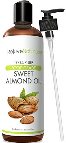 Sweet Almond Oil, 16 oz - (Food Grade) 100% Pure, Hexane Free, Cold Pressed Therapeutic Carrier Oil & All Natural Moisturizer for Massage, Skin, Hair Growth, Cuticles & Cooking, by (Foods Almond)