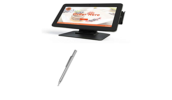 BoxWave Metallic Silver Toast Self-Service Kiosk Stylus Pen Electronic Stylus with Ultra Fine Tip for Toast Self-Service Kiosk AccuPoint Active Stylus