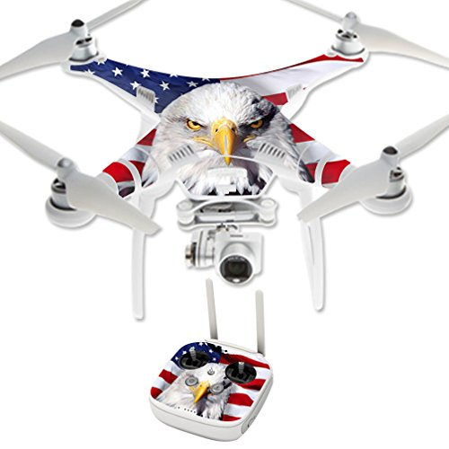MightySkins Protective Vinyl Skin Decal for DJI Phantom 3 Professional Quadcopter Drone wrap Cover Sticker Skins America Strong