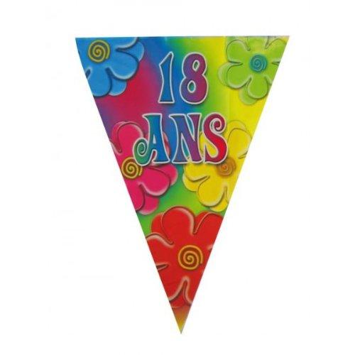 Guirnalda banderín cumpleaños 18 años - decoración fiestas y ...