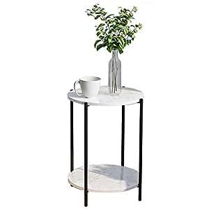 Amazon.com: Mesa auxiliar apilable para decoración de ...