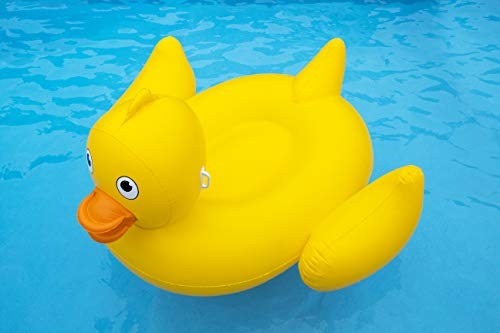 Swimline Giant Lucky Ducky Ride-On Pool Inflatable Ride-On, -