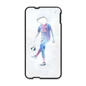 Happy Soccer FC Barcelona Blaugrana Neymar Black Phone Case for HTC One M7