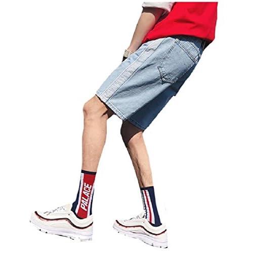 Wholesale Comfy Men's Straight Casual Jeans Juniors' Denim Pants Midi Shorts free shipping