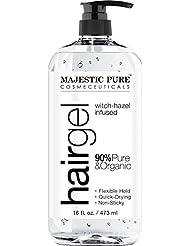 Majestic Pure Styling Hair Gel, for Men & Woman with Organic Aloe Vera & Witch Hazel, 16 fl oz