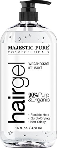 - Majestic Pure Styling Hair Gel, for Men & Woman with Organic Aloe Vera & Witch Hazel, 16 fl oz
