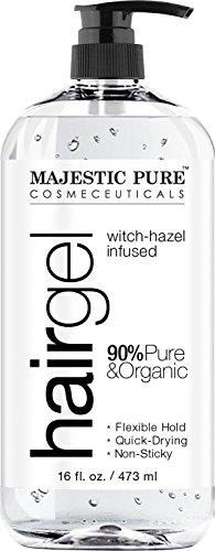 Hair Gel Women - Majestic Pure Styling Hair Gel, for Men & Woman with Organic Aloe Vera & Witch Hazel, 16 fl oz