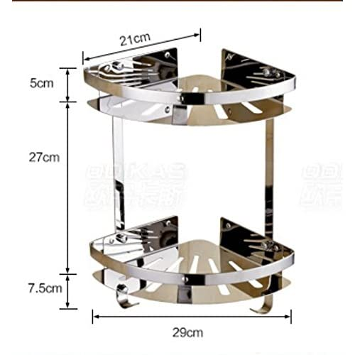 durable service Stainless steel bathroom shelf /Triangular basket storage/ bathroom corner rack hanging-A