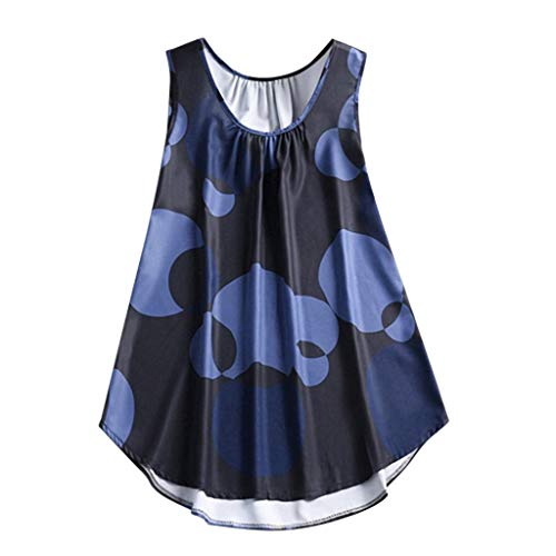 WOCACHI Swimsuits for Womens, Plus Size Women Big Wave Print Casual Sleeveless Vest T-Shirt Tops Girlfriend Boyfriend Gift Under 5 10 Fashion Newest Couples