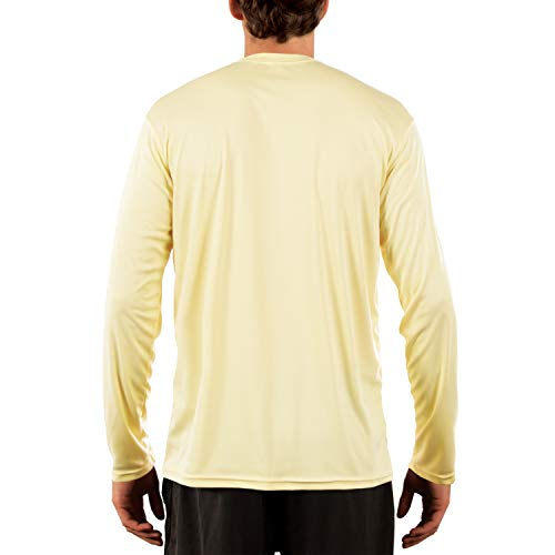 Vapor Apparel Men's UPF 50+ UV/Sun Protection Long Sleeve T-Shirt X-Small Pale Yellow