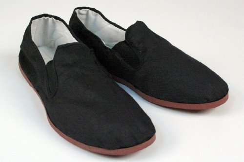 Kung Fu Tai Chi Shoes - Rubber Sole - Perfect for Martial Arts and Costumes - Men's 10 1/2 to 11