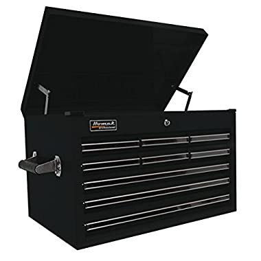 Homak Pro Series 27in. 9-Drawer Extended Top Tool Chest - Black, 26in.W x 17 1/2in.D x 17in.H, Model# BK02027901
