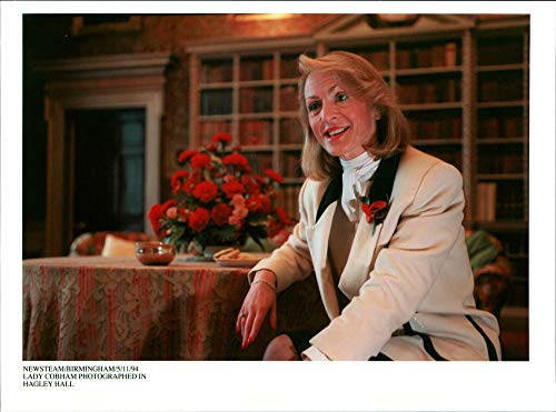 Cobham Hall - Vintage photo of Lady Cobham in Hagley Hall